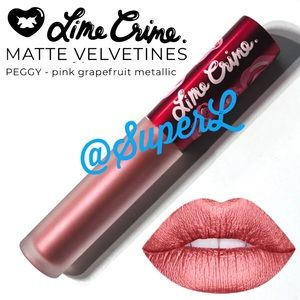 2/$25 Lime Crime Velvetines Liquid Lipstick Peggy